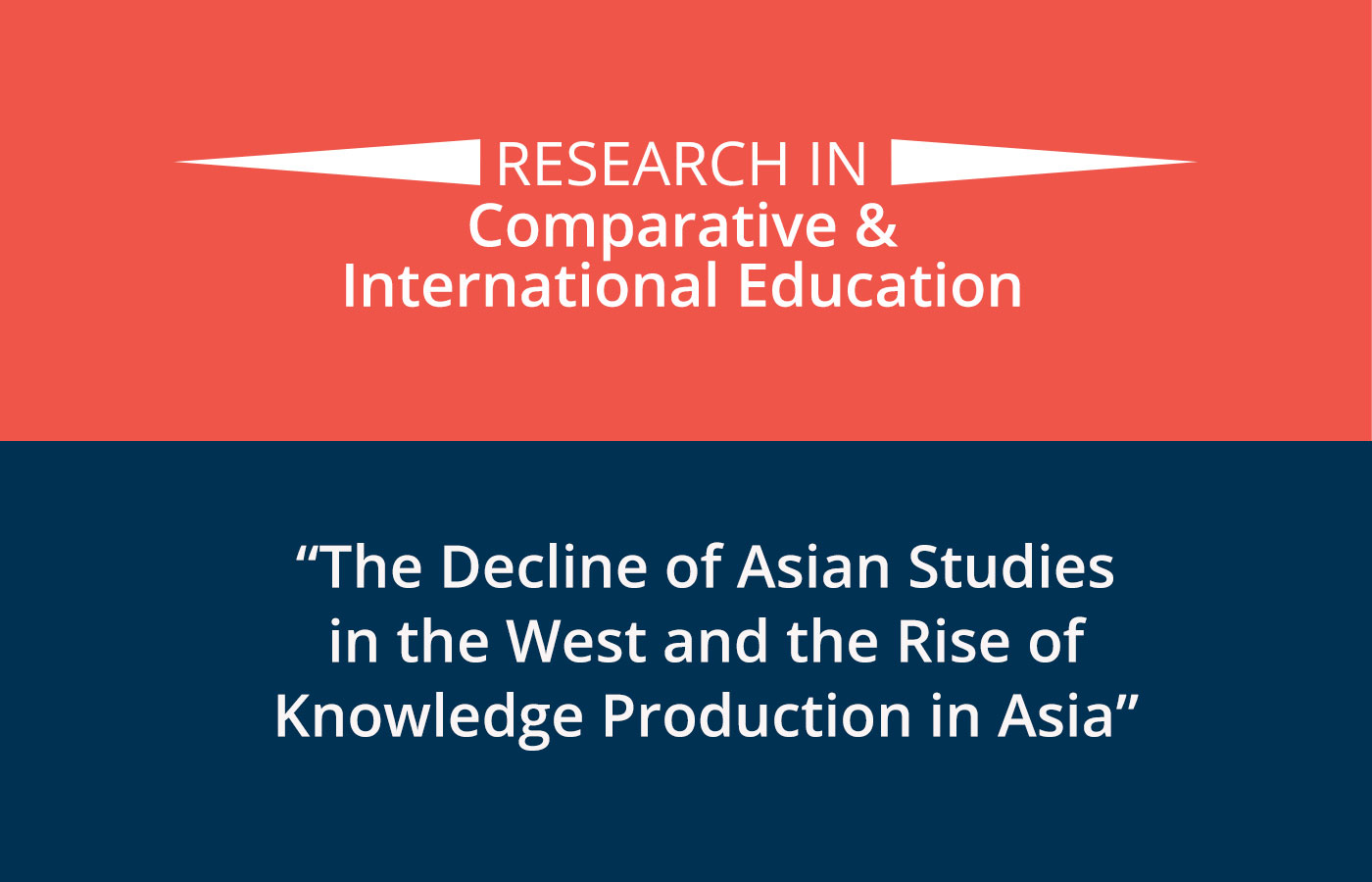 New Article on Asian Studies in the West and in Asia
