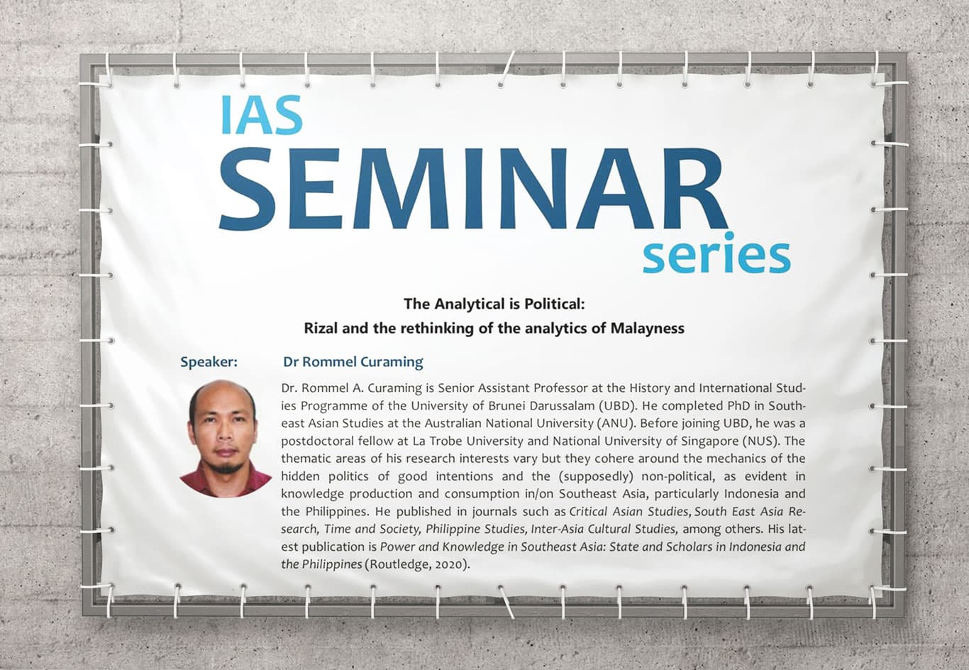 Seminar on Rizal and the Analytics of Malayness